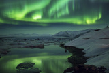 Aurora Borealis or Northern Lights  Iceland