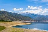 Lake Toktogul in Kyrgyzstan