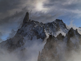 The Dent Du Geant  in the Mont Blanc Massif