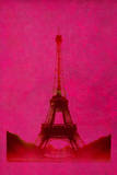 Retro-Styled Eiffel Tower in Pink