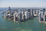 Usa  Florida  Miami Skyline as Seen from Air