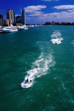 Jet Skis on Biscayne Bay near Miami Beach Marina