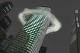 Ring of Vapor around Building