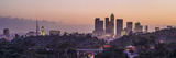 Panoramic View of Downtown Los Angeles at Sunset