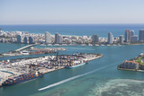 Usa  Florida  Miami  Cityscape with Coastline