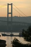 Sun Rise over the Bosphorus Bridge in Istanbul  Turkey