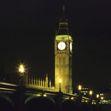 Westminster Bridge and Big Ben at Night  London