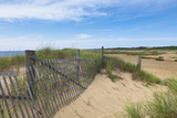Wooden Fence on Beach  Provincetown  Cape Cod  Massachusetts  USA