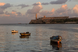 Fishing Boats and El Morro Lighthouse at Sunrise