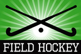 Field Hockey Crossed Sticks Green Sports