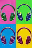 Headphones Pop Art