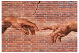 Michelangelo Creation of Adam Graffiti