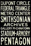 Washington DC Metro Stations Vintage Retro Metro Travel