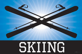 Skiing Blue Sports