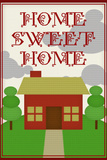 Home Sweet Home Retro Faux Cross-stitch