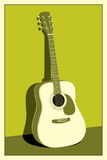 Acoustic Guitar Green Music