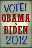 Vote Obama & Biden 2012 Retro