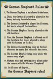 German Shepherd House Rules