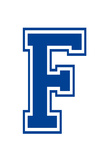 Varsity Letter F Make Your Own Banner