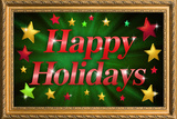 Happy Holidays Faux Framed