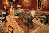 Vincent Van Gogh Night Cafe with Pool Table
