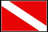 Scuba Diver Down Flag