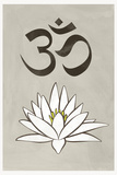 Lotus Meditation AUM Blue White