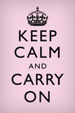 Keep Calm and Carry On  Light Pink