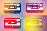 Audio Cassette Tapes Flash Pop