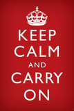 Keep Calm and Carry On  Faded Red