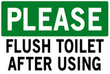 Please Flush Toilet
