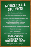 Notice to all Students Classroom Rules