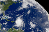 Three Storms From Space Hurrican Irene Photo