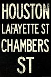 New York City Houston Chambers Vintage Retro Metro Subway