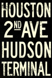 New York City Houston Hudson Vintage Retro Metro Subway
