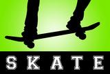 Skateboarding Green Sports