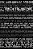 Gettysburg Address (Black) Text