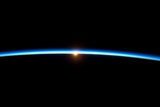 Thin Blue Line of Earth Atmosphere