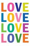 Love (Colorful  White)