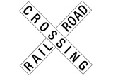 Railroad Crossing Crossbuck Traffic
