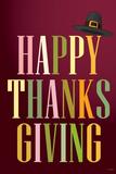 Happy Thanksgiving (Colorful  Dark)