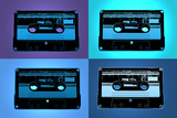 Audio Cassette Tapes Blue Pop