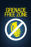 Jersey Shore Grenade Free Zone Blue Mesh TV