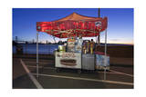 Hot Dog Stand on Treasure Island (Oakland Bay Bridge  San Francisco Bay  Christmas)