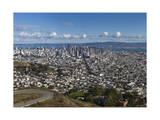 Twin Peaks View of San Francisco  CA 1 (City with Bay and Clouds)