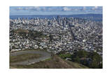 Twin Peaks View of San Francisco  CA 2 (City with Bay and Clouds)