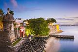 San Juan  Puerto Rico Coast at Paseo De La Princesa