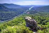 Chimney Rock at Chimney Rock State Park in North Carolina  Usa