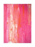 Pink and White Abstract Art Painting