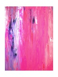 Pink and Purple Abstract Art Painting